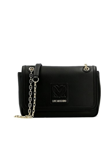 Love Moschino   Marka Logolu Zincir Askılı Omuz Çanta Kadın Çanta Jc4111Pp1Clk100A Siyah